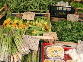 Open market on Campo de fiori (photo: Sour C. Efabric)
